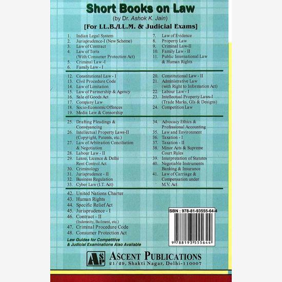 Law of Evidence - Dr  Ashok Kumar Jain - Ascent Publications